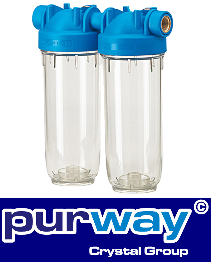 """DP 10 DUO 3/4"""" OT TS Doppelfiltergehäuse Hauswasserfilter Trinkwasserfilter"""