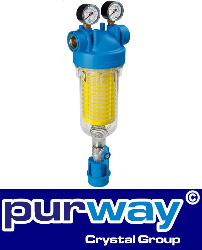 HYDRA M  3/4 RLH 90 mcr Self-Cleaning Filter Wasserfiltergehäuse und Filter