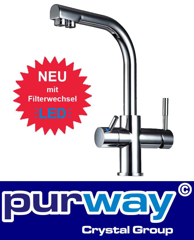 3-Wege-Wasserhahn LED DELTA Küchenarmatur Küche Spültischarmatur Osmoseanlage