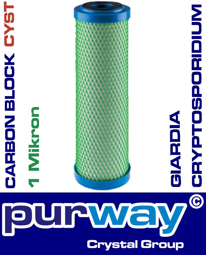 CB-EC CYST 10 SX 1 mcr Trinkwasser Filter Giardien Kryptosporidien Chlor