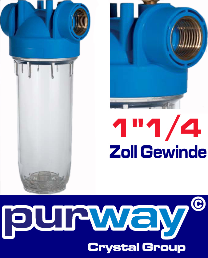 """DP 10 MONO 1""""1/4 OT TS Filtergehäuse Wasserfilter Trinkwasserfilter Gehäuse"""