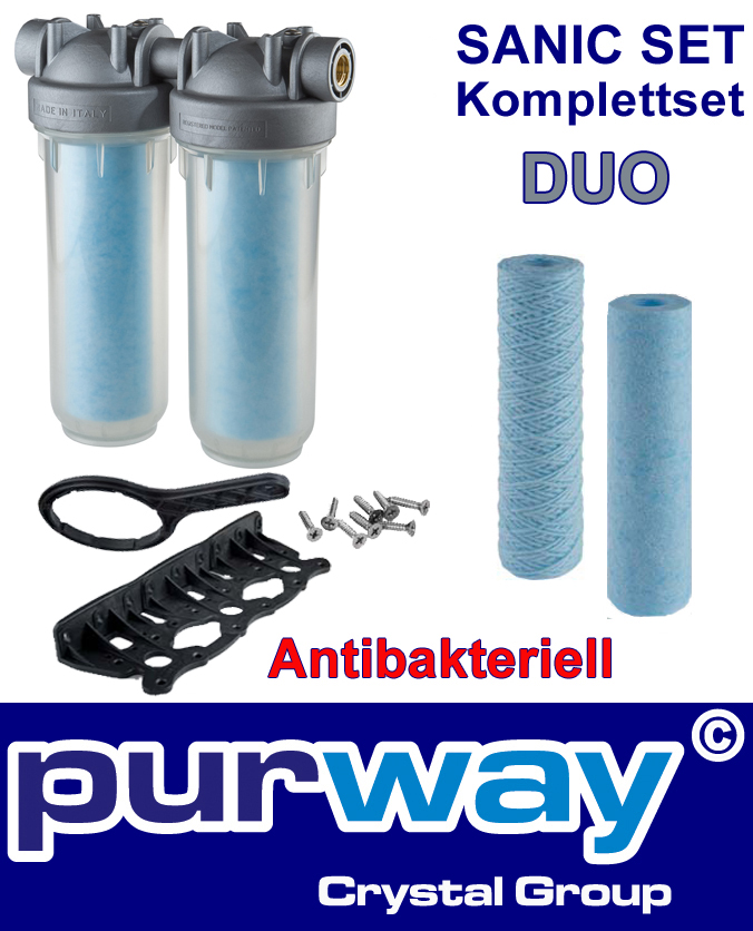 "DP DUO Sanic Set 1"" OT SANIC DOPPEL-Filtergehäuse inkl. Filter Antibakteriell"