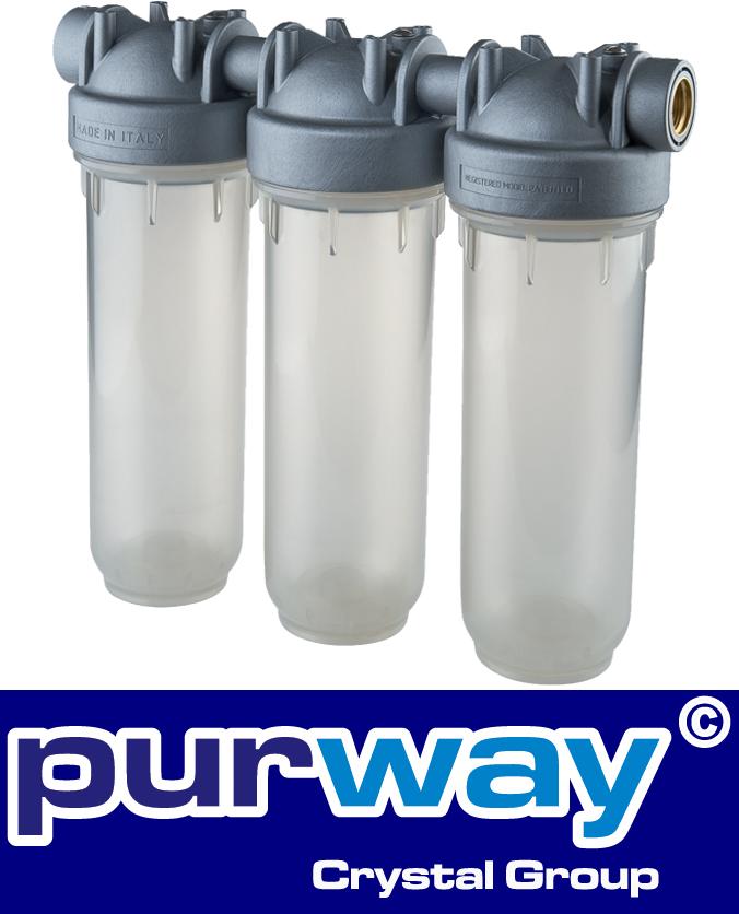 """DP 10 TRIO 3/4"""" Zoll OT Sanic Trinkwasser Filtergehäuse Antibakteriell"""