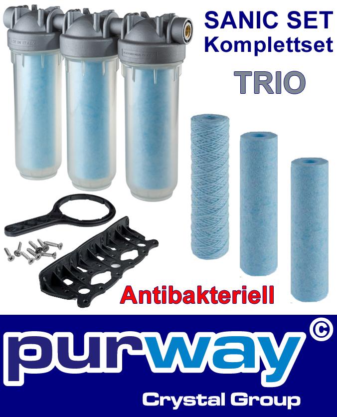 "DP TRIO Sanic Set 3/4"" OT SANIC DREIFACH Gehäuse inkl. Filter Antibakteriell"
