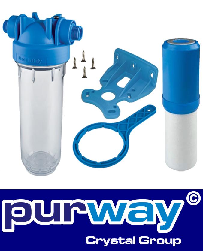 DP10MP-CPP Set Anti-Kalk Waschmaschinen Schuzfilter Polyphosphat