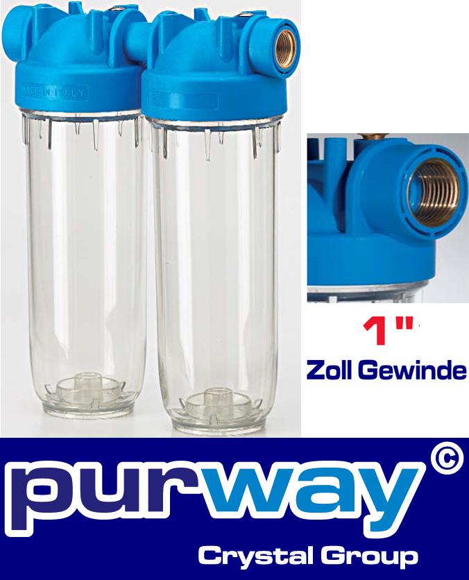 """DP 10 DUO 1"""" OT TS 10"""" Doppelfiltergehäuse Hauswasserfilter Trinkwasserfilter"""