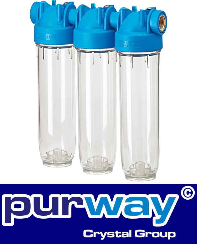 """DP 20 TRIO 3/4"""" OT TS DREIFACH-Filtergehäuse Hauswasserfilter Trinkwasserfilter"""