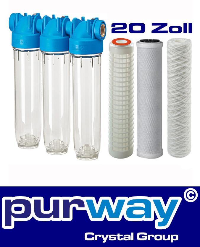 """DP TRIO 20 RL-CB-FA SET 1"""" Wasserfilter Chlor Insektizide org. Stoffe Sedimente"""