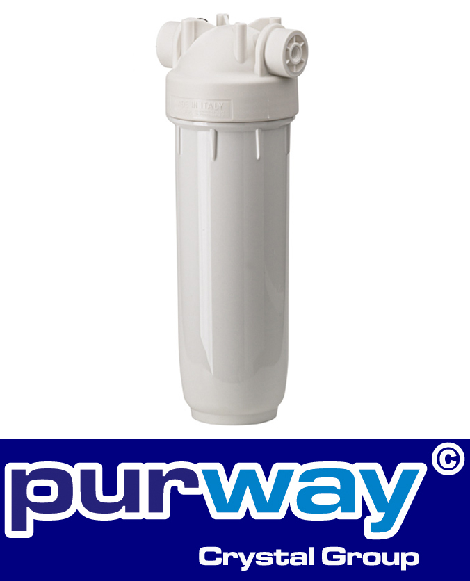 "DP 20 Mono 1/2"" IN BW SINGLE quality housing potable water filter domestic white"
