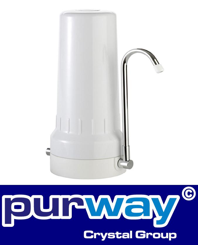 DEPURAL TOP BW Trinkwasserfilter Auftischfilter Tischwasserfiltergehäuse weiss