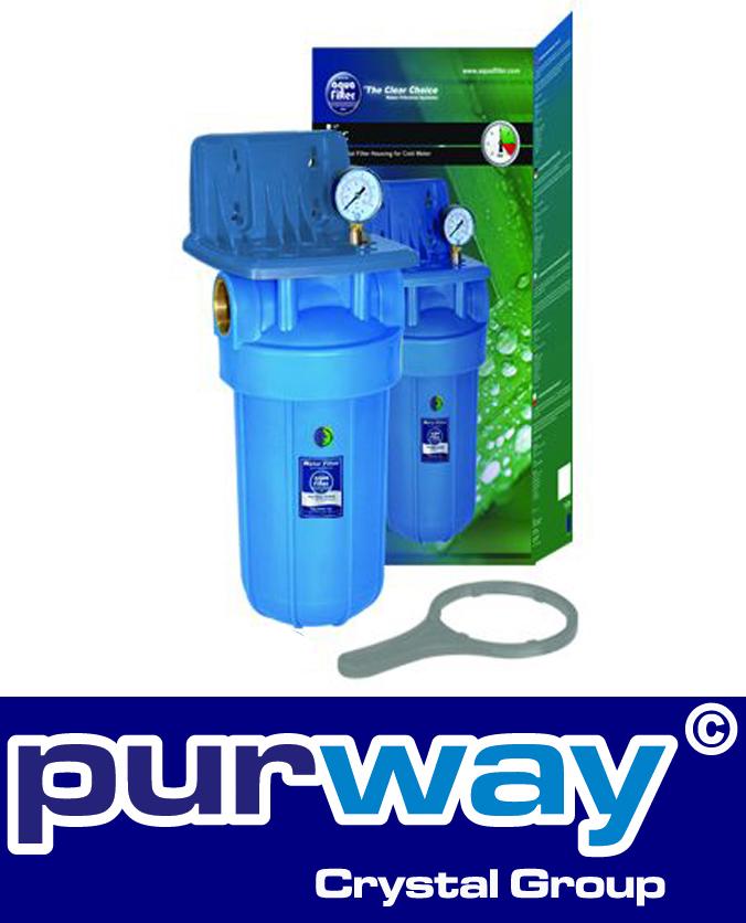 FH10B1-B-WB - 10 Zoll Big Blue® Wasserfiltergehäuse mit MANOMETER