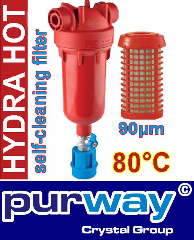 "Hydra Hot 80°C 1"" Zoll RAH 90 mcr Heisswasser Warmwasser Filter"