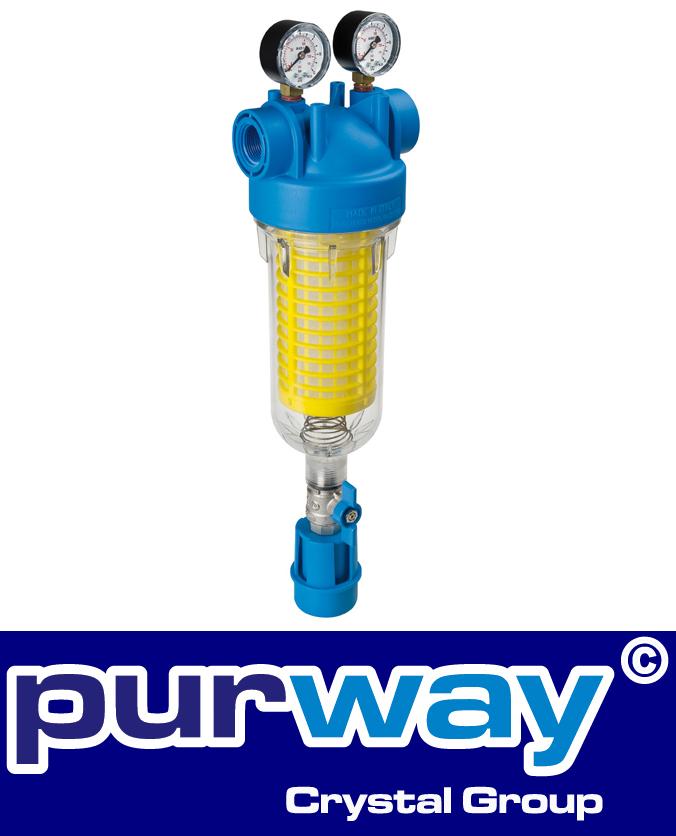 """HYDRA M 1/2"""" RLH 90 mc IN Rückspülfilter Wasserfilter Hausfilter Brunnenfilter"""