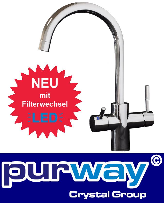 3-Wege-Wasserhahn LED GAMMA Küchenarmatur Küche Spültischarmatur Osmoseanlage