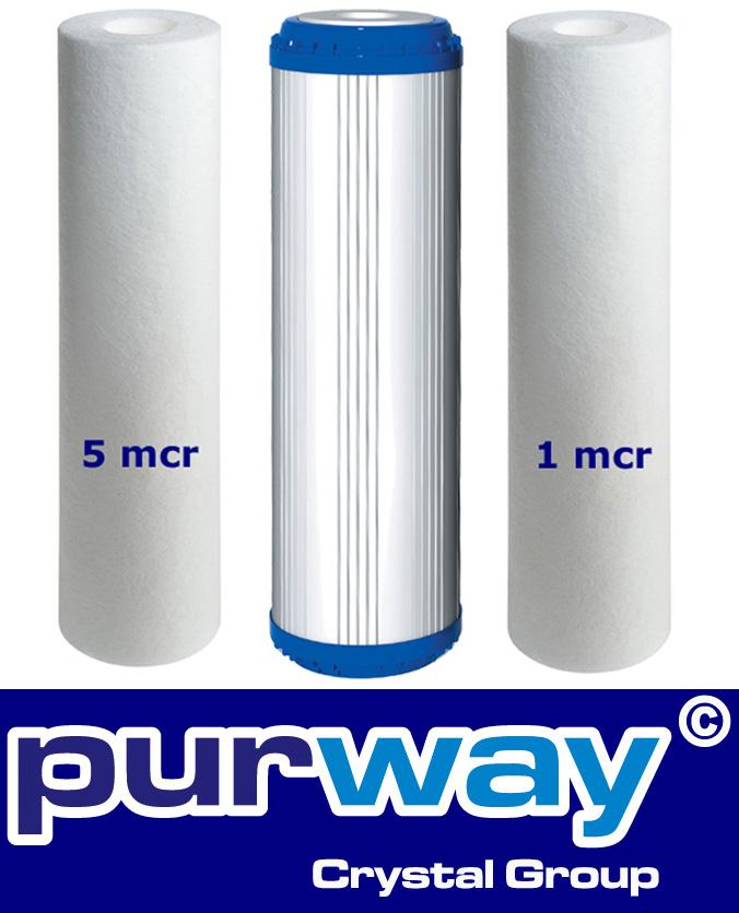 Osmose Filter 3er-Set 5-PLA-1 Mikron für 1. bis 3. Stufe Umkehrosmose