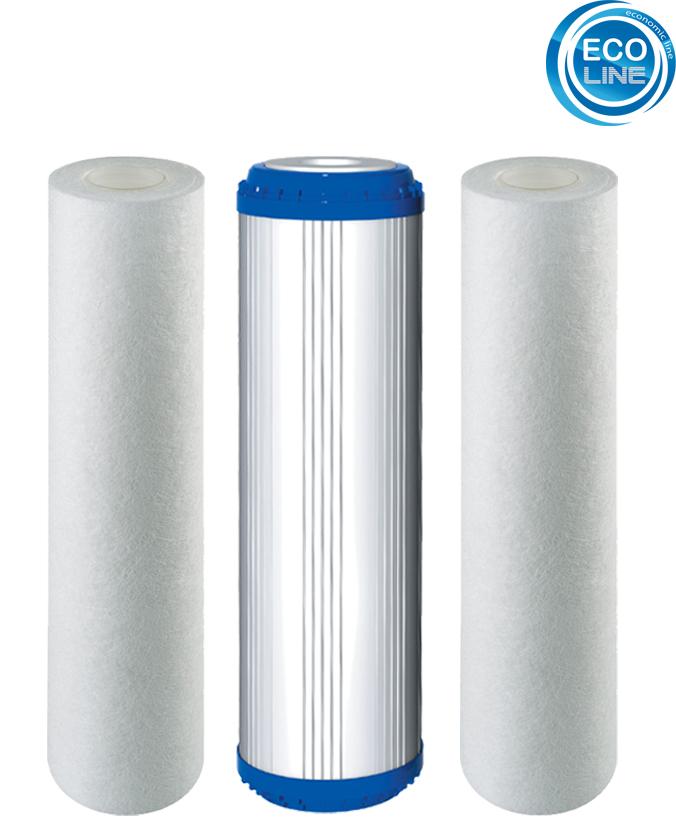 Ersatz Filter Osmose 3er Set 10-PLAX-1 für 5 Stufen Umkehrosmoseanlage Kartusche