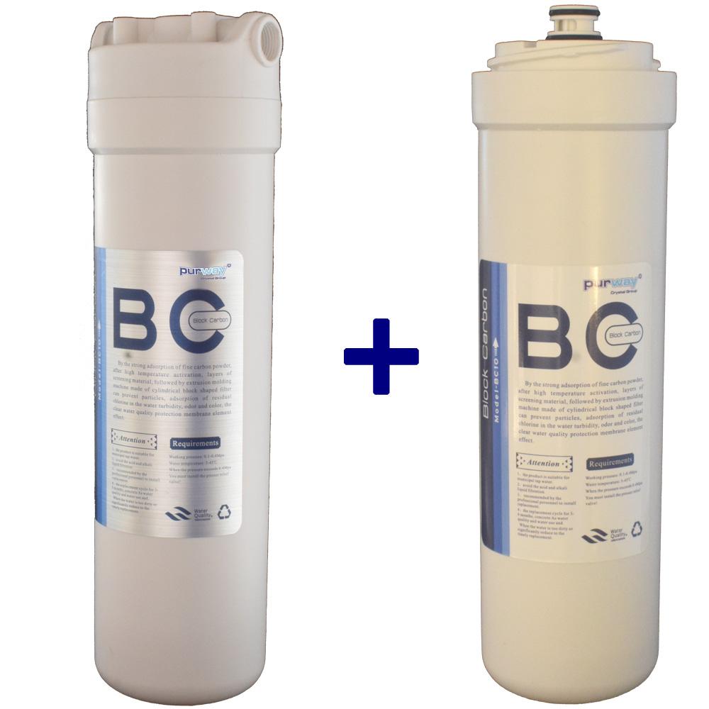 PCB QUICK 10mcr Carbon Block Aktivkohleblock Chlor + 1 ERSATZFILTER