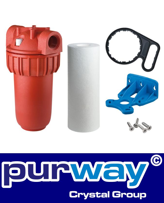 "PLUS HOT PP 5 SX 80°C Heisswasser 5"" Zoll Filtergehäuse inkl. 10 Mikron Filter"