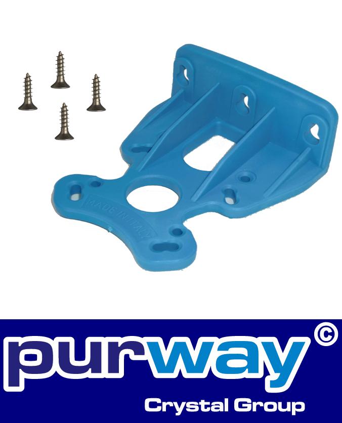 W1 - Wandhalter (blau) für EINZEL-Filtergehäuse von purway