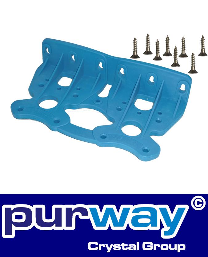W2 - Wandhalter (blau) für DOPPEL-Filtergehäuse purway