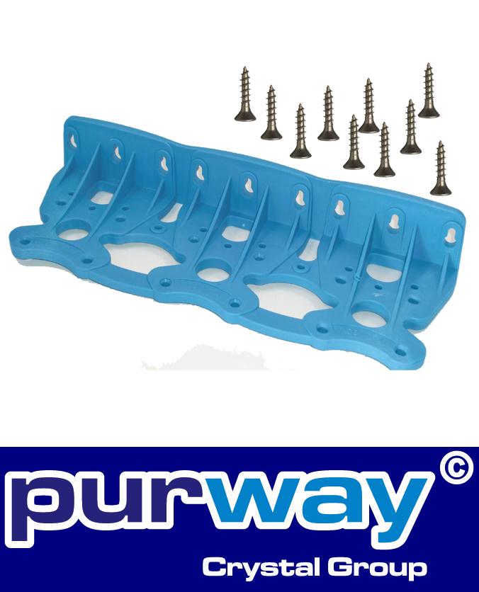 W3 - Wandhalter (blau) für DREIFACH-Filtergehäuse purway