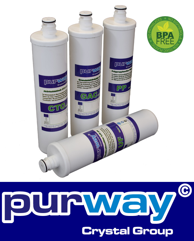 PUR FILTER TWIST-CHANGE-SYSTEM 4 Patronen Set für QUICK 6+7 Osmose