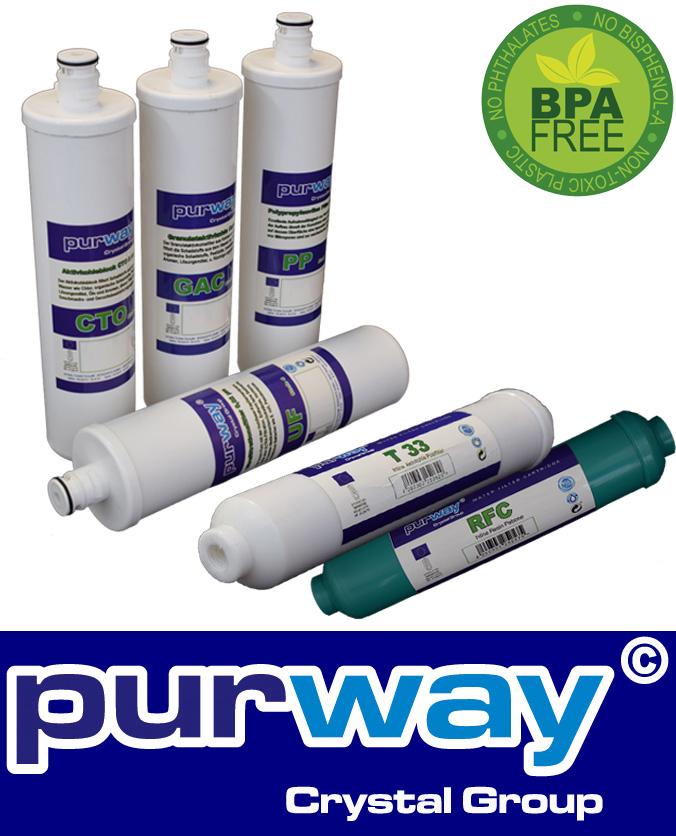 Ersatzfilter-Set 6 Kartuschen für PUR QUICK 6 UF Wasserfiltersystem