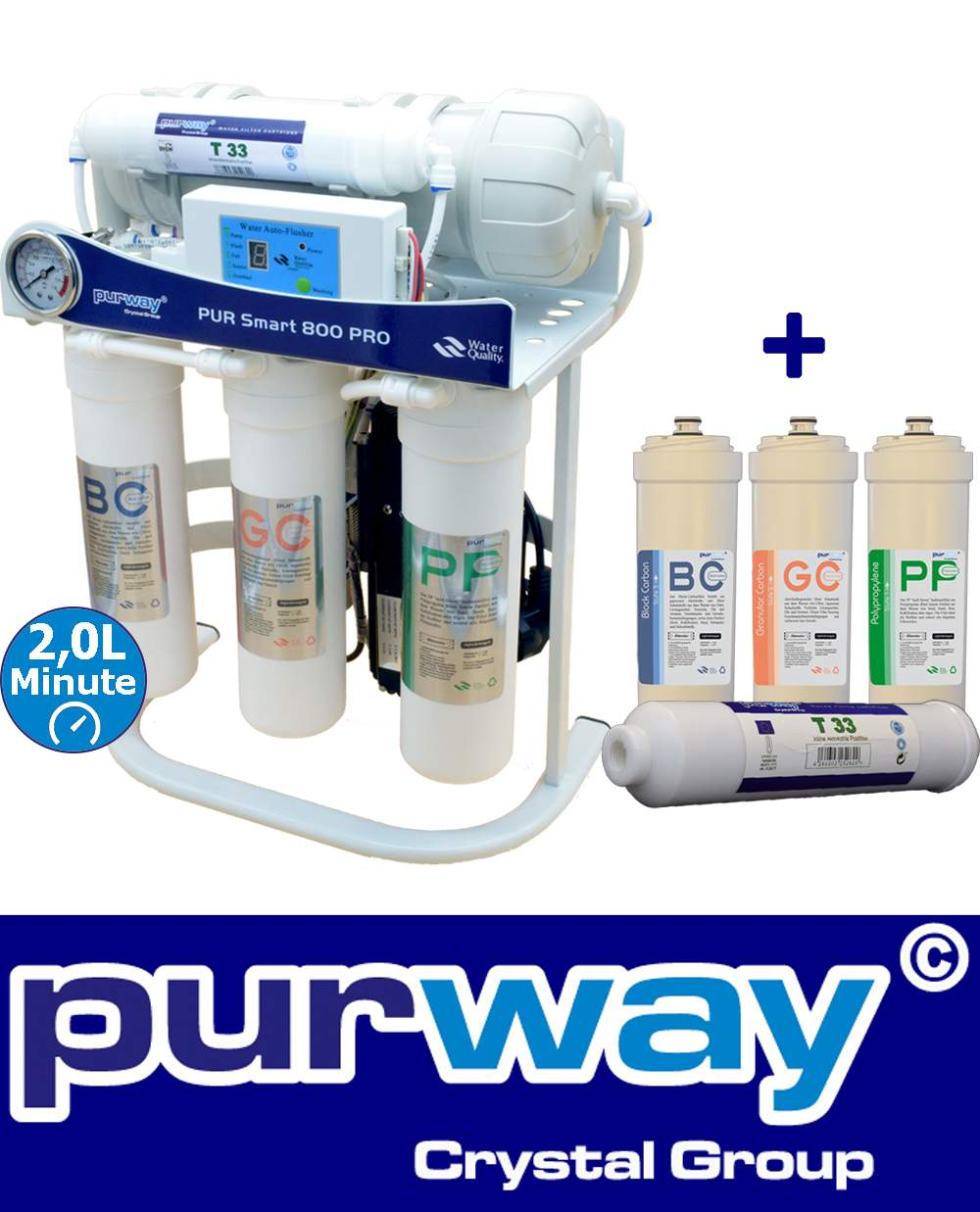 PUR Smart 800 PRO Umkehrosmoseanlage brushless bürstenlos + Ersatzfilterset