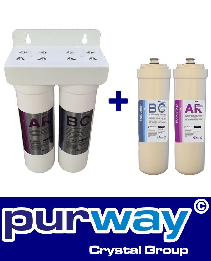PUR Smart DUO Antikalk Set Wasserenthärtung + ERSATZFILTERSET