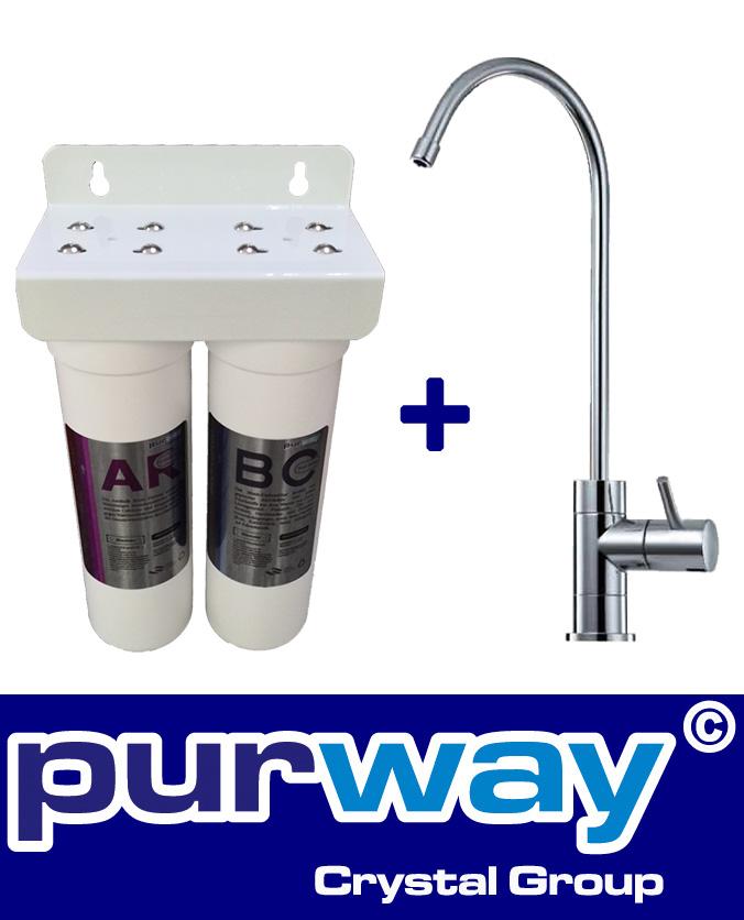 PUR Smart DUO Antikalk Set Wasserenthärtung Chlor + 1-Wege Wasserhahn