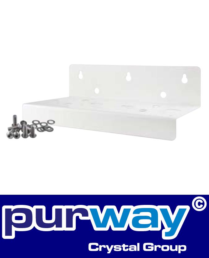 B2WM - Wandhalter (weiß) für DP BIG DOPPEL-Filtergehäuse purway